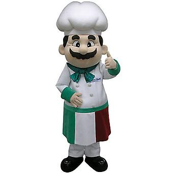 mascot head chef with an apron and a toque SPOTSOUND