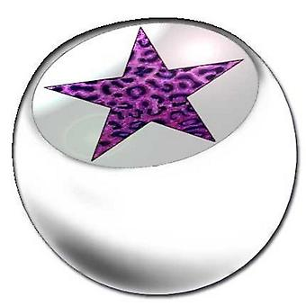 Piercing ersättare boll vit, piercingsmycken, Leopard stjärniga lila | 1,6 x 5 och 6 mm