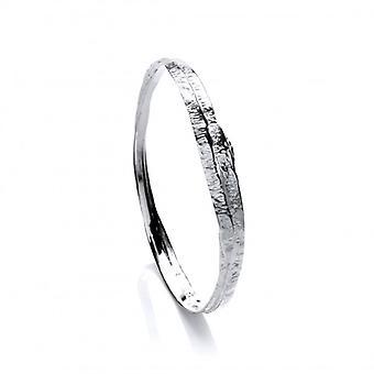 Cavendish francese belle martellata argento braccialetto rotondo