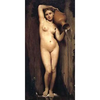 The Source,Jean Auguste Dominique Ingres,80x40cm