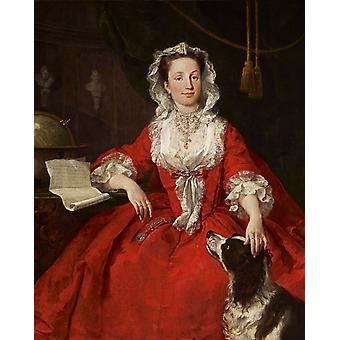 Miss Mary Edwards, William Hogarth, 50x40cm