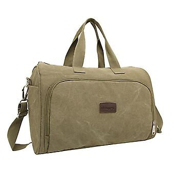Weekendbag tai laukku pellava kankaalle, 43x28x22 cm