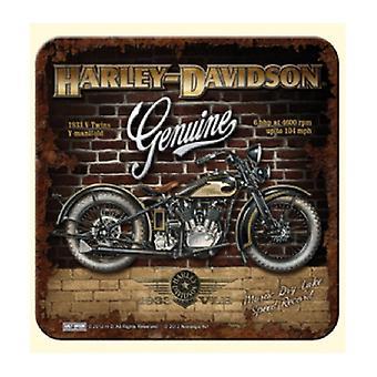 Harley Davidson Genuine (Brick Wall) Drinks Mat / Coaster