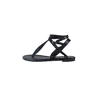 Lovemystyle Black Double Strap Gladiator Sandals