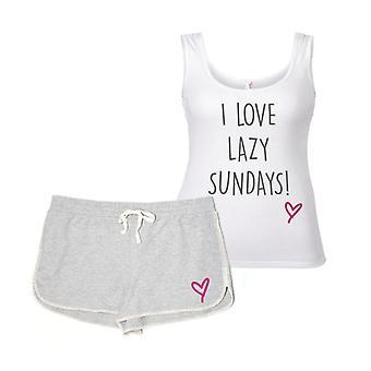 I Love Lazy Sundays Pyjama Set