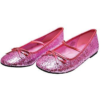 Tasainen baletti Glitter Ch vaaleanpunainen Xl