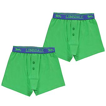 Lonsdale Kids 2 Pack Boxers Junior