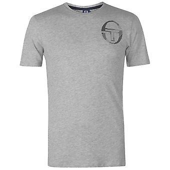 Sergio Tacchini Mens Zang T Shirt Crew Neck Tee Top manches courtes coton imprimé
