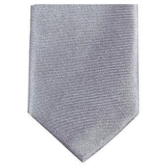 Knightsbridge Neckwear Skinny Polyester Tie - Silver