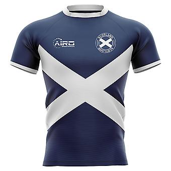 2020-2021 Scotland Flag Concept Rugby Shirt - Kids