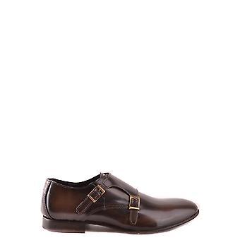 Trussardi Ezbc149003 Men's Brown Leather Monk Strap Shoes