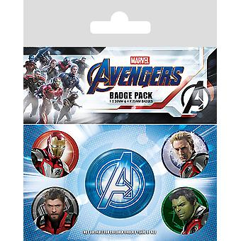 Avengers: end game button set quantum of realm suits printed sheet, 1 x Ø 3.8 cm, 4 x Ø 2.5 cm.