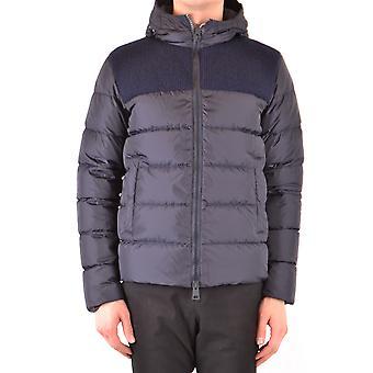Herno Ezbc034030 Men's Blue Nylon Outerwear Jacket