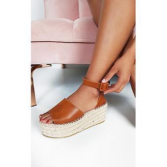 IKRUSH Womens Carrie Flatform wedged sandálias