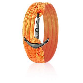 Skipper di ancoraggio Bracciale Wrap BRACCIALE nylon in arancione con nero Anchor 8007