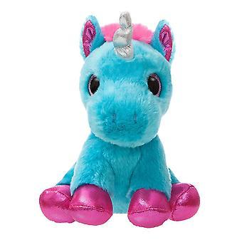 """Sparkle Tales 7"""" Moonbeam Turquoise Unicorn Plush Toy"""