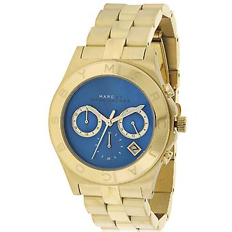 Marc by Marc Jacobs Blade Gold-Tone Chronograph Ladies Watch MBM3307