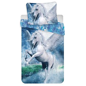 Pegasus Single Cotton Duvet Cover Set