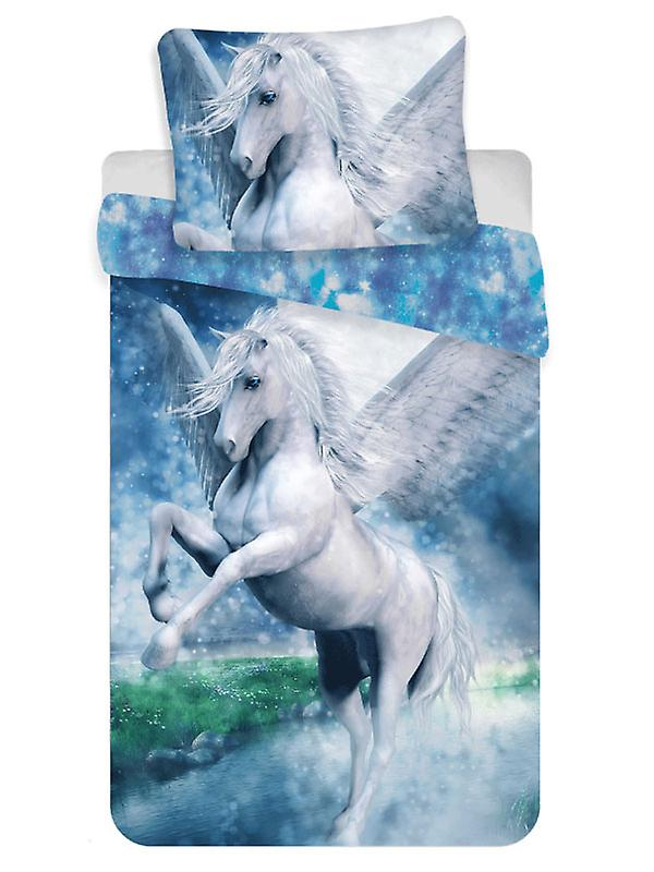Pegasus Single Cotton Duvet Cover Set