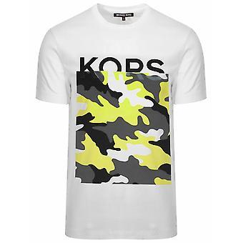 Michael kors hvit camouflage logo T-skjorte
