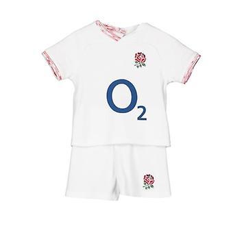 Engeland RFU Rugby baby/peuter T-shirt & Shorts Set   Wit   seizoen 2019/20
