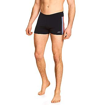 Zoggs Men Surfside Spliced Hip Racer Swimming Briefs - Noir