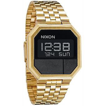 Nixon Re-run Digital Men's Quartz Watch with Stainless Steel Bracelet Plated in A158502 Gold