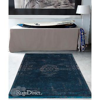 Langzaam verdwijnende wereld blauwe nacht tinten van blauwe rechthoek tapijten moderne tapijten