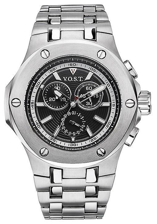 V.O.S.T. Germany V100.001 Steel Chrono Heren Horloge 44mm