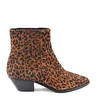 Ash jalkineet tuleva Tan Leopard tulosta nilkka Boot