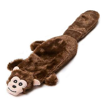Animate Flat Monkey Plush Dog Toy