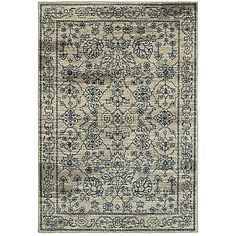 Linden 7804c beige/ navy indoor area rug rectangle 7'10