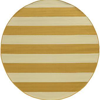 Riviera 4768k gold/ivory indoor/outdoor rug round 7'10