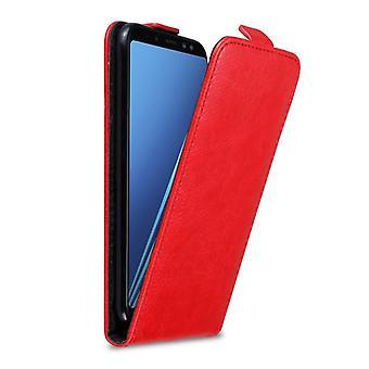 Cadorabo tilfelle for Samsung Galaxy A8 2018 tilfelle tilfelle dekselet - telefonveske i flip design med magnetisk lås - Case Cover Beskyttende tilfelle Bok Folding Style