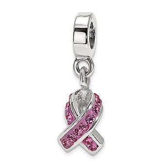 925 sterling sølv polert refleksjoner krystall bevissthet dingle perle sjarm anheng halskjede smykker gaver til kvinner