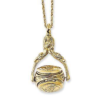 Guldton 3 Locket 30inch Halsband Smycken Gåvor för kvinnor - 15,5 gram