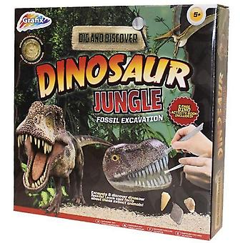 Grafix graven en ontdekken-dinosaurus jungle opgraving Kit