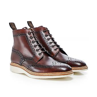 Loake Hand-Painted Leather Mamba Boots