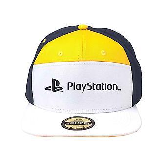 Playstation Baseball Cap 7 Panels Classic Logo new Official Yellow Snapback