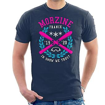 Morzine France '19 '20 Skiing Crest Men's T-Shirt