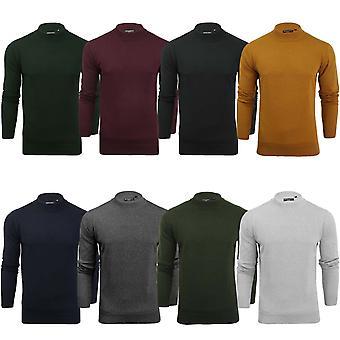 Tapfere Seele Mens stricken gestrickt lange Sleeve Polo Turtle Neck Pullover Sweatshirt Top