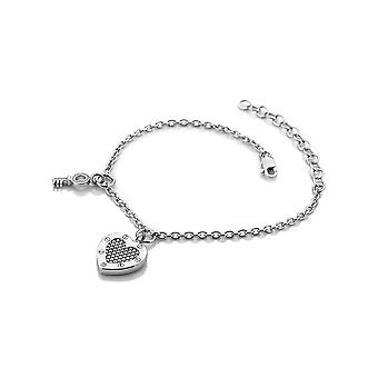 Hot Diamonds Lock In Love Silver Beaded Bracelet DL561