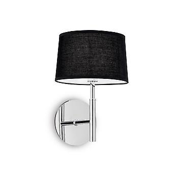 Ideal Lux Hilton 1 Light Wandleuchte Schwarz IDL164601