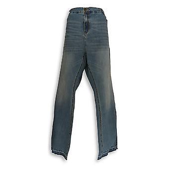 G.I.L.I. got it love it Women's Plus Jeans26 Released Hem Slits Blue A297942