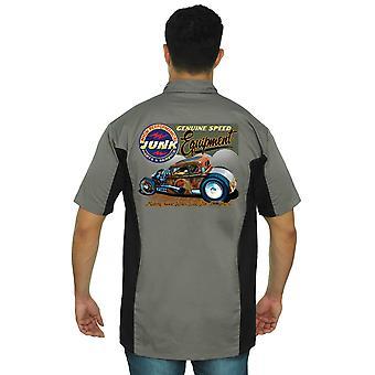 Trabajo mecánico camisa alto rendimiento velocidad verdadera hombres