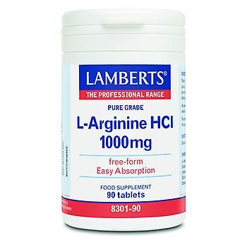 Lamberts L-Arginine HCI 1000mg capsules 90 (8301-90)