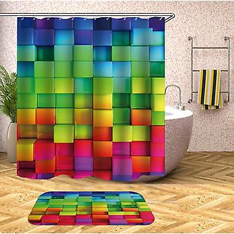 Rainbow Bricks duschdraperi