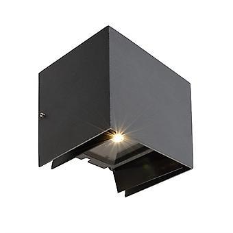 LED wandconstructie licht Arcturus II 5.5 W 3000K 140x105mm donker grijs aluminium
