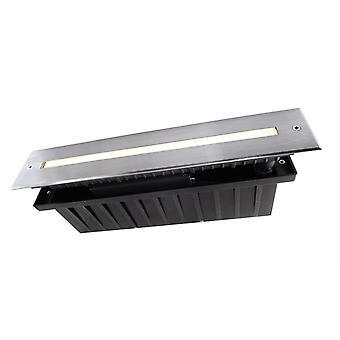 Plancher LED encastré lumière Slim Line I 5.4WW 5W 3000 K 110 '328 mm argent IP67