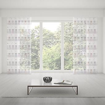Meesoz Net Curtain - Pastel Bears